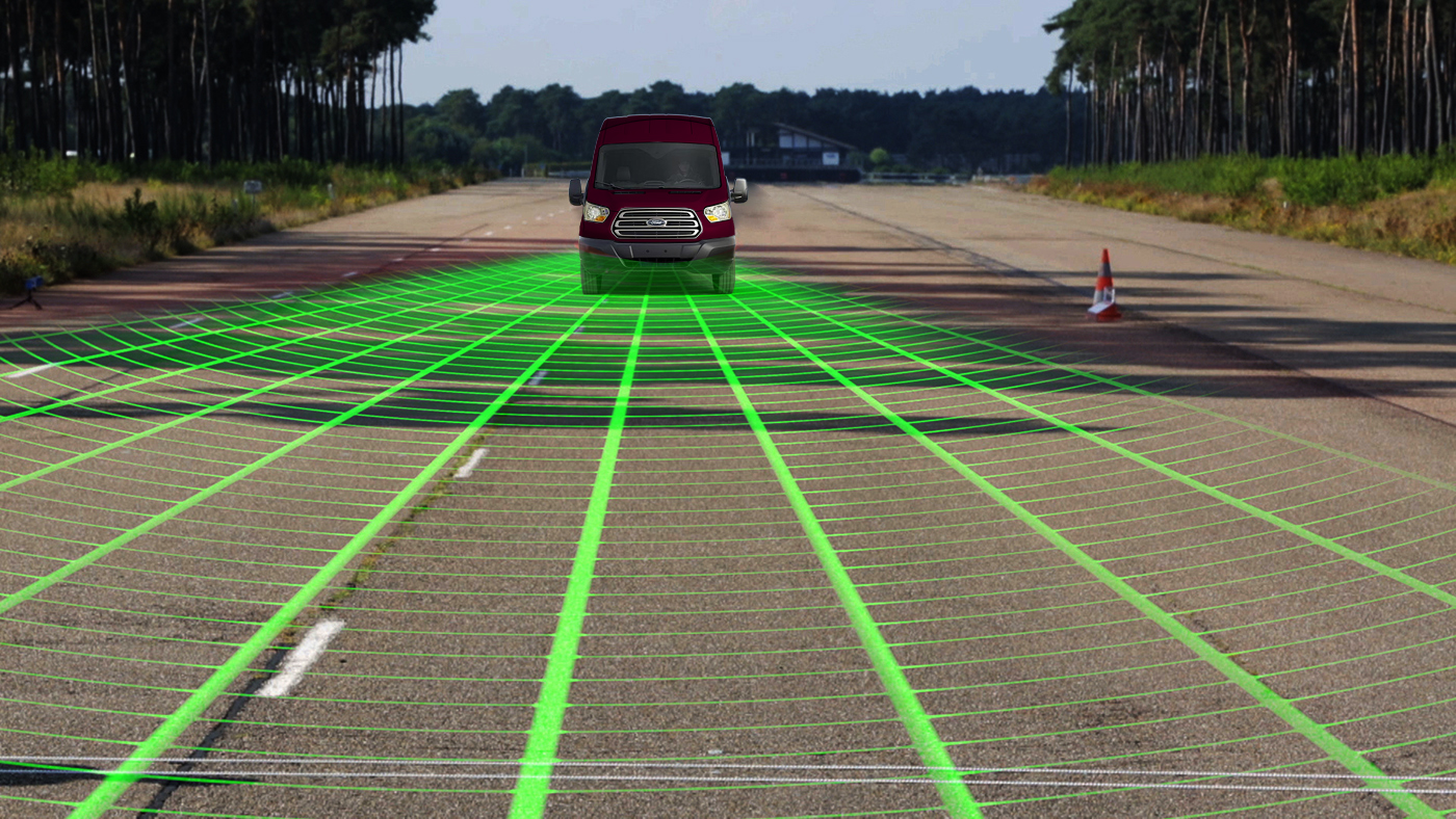 Ford Transit - Radar - Chodec Detecion